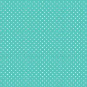 Spot by Makower UK - 5378 - White Spots on Aqua - 830_T65 - Cotton Fabric